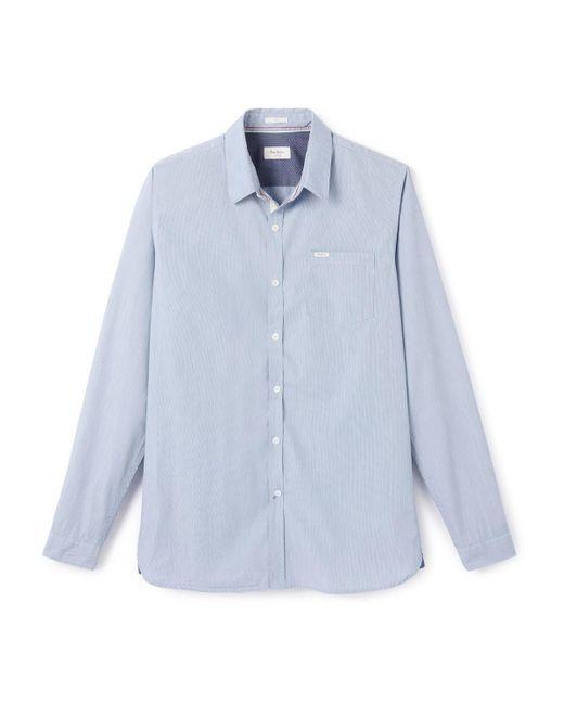 Pepe Jeans   Blue Cotton Shirt for Men   Lyst