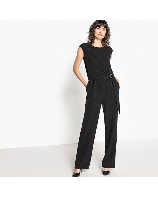 74c67a9172c LA REDOUTE - Black Knotted-waist Jumpsuit - Lyst ...