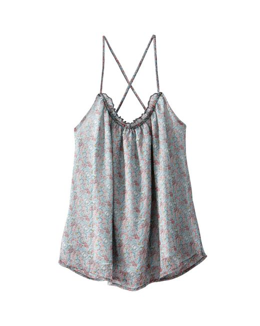 LA REDOUTE   Multicolor Vest Top With Crossover Back And Shoestring Straps   Lyst