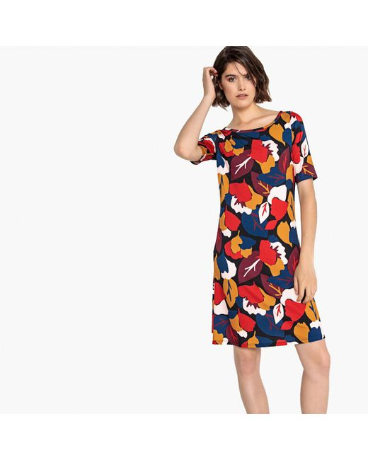 LA REDOUTE - Multicolor Floral Print Jersey Dress - Lyst