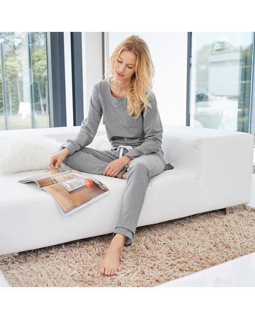 Pijama 2 prendas de felpa LA REDOUTE de color Gray