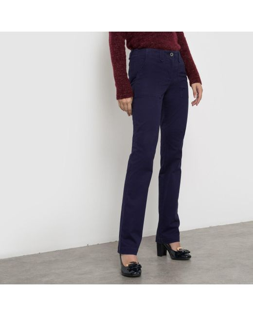 LA REDOUTE - Blue Cargo Trousers, Regular Waist - Lyst