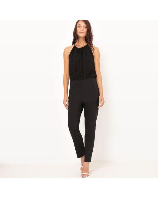 LA REDOUTE - Black Plain Jumpsuit - Lyst