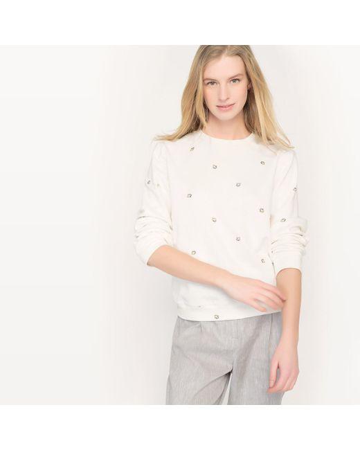 LA REDOUTE | White Crew Neck Sweatshirt | Lyst