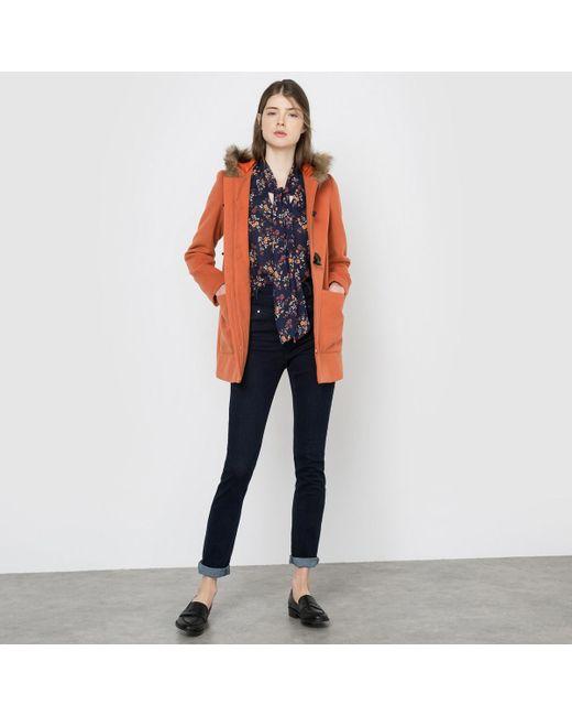 large sélection à vendre usine authentique Women's Orange Hooded Duffle Coat