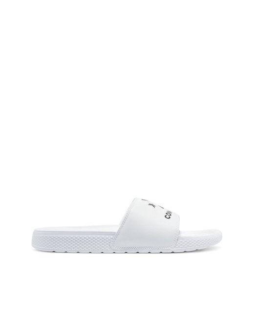 Mules Slide Foundation Slip Converse de hombre de color White