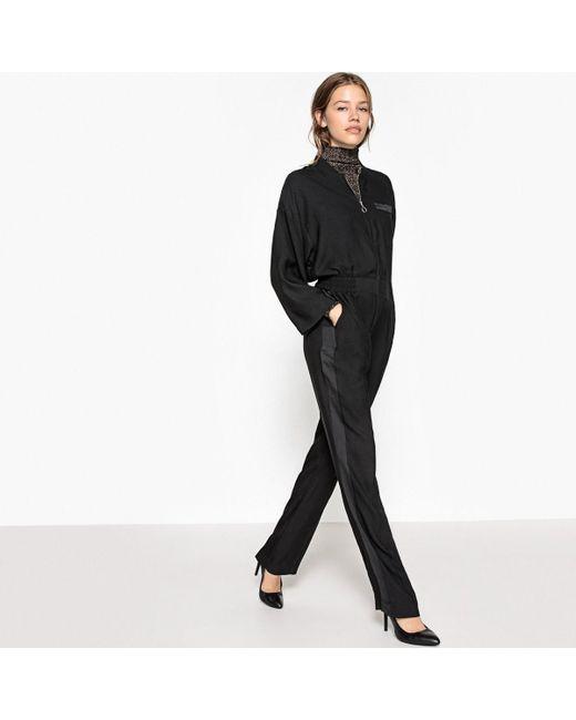 LA REDOUTE - Black Loose Fit Wide Leg Jumpsuit - Lyst