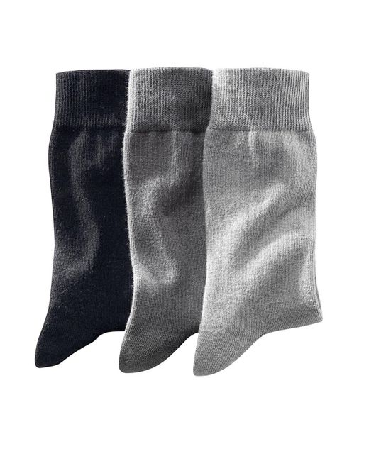 LA REDOUTE | Gray Pack Of 3 Pairs Of Plain Cotton Rich Socks for Men | Lyst