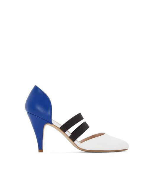 LA REDOUTE - Blue High Heels With Elastic Detail - Lyst