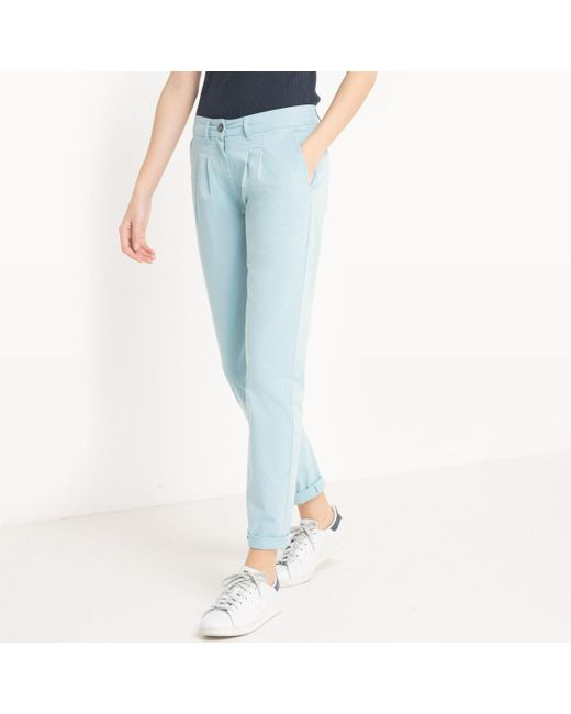 LA REDOUTE | Blue Pleat Front Chinos | Lyst
