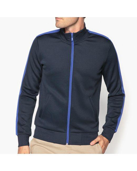 LA REDOUTE | Blue High Neck Zip-up Sweatshirt for Men | Lyst