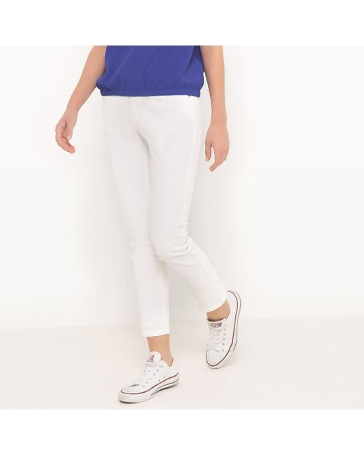 LA REDOUTE   White Ankle Grazer 7/8 Trousers   Lyst