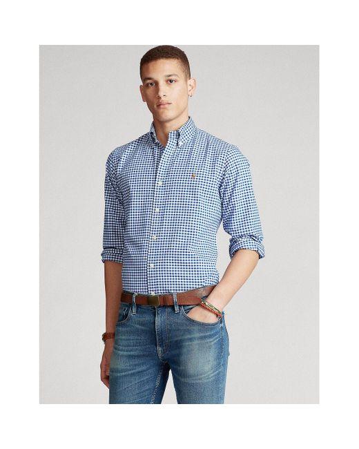 Camisa recta oxford de cuadros Polo Ralph Lauren de hombre de color White