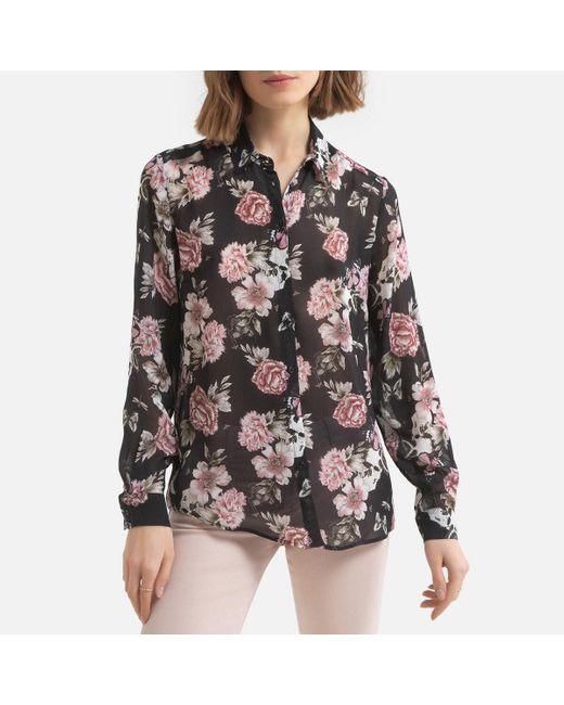 Camisa con estampado de flores, de manga larga IKKS de color Pink