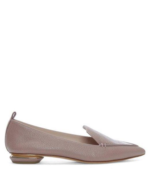 c8cf777651f Nicholas Kirkwood - Beya Texture Lilac Pink Leather Pointed Toe Flat Siz -  Lyst ...