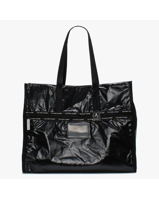Marc Jacobs Ripstop Xxl Black Nylon Tote Bag