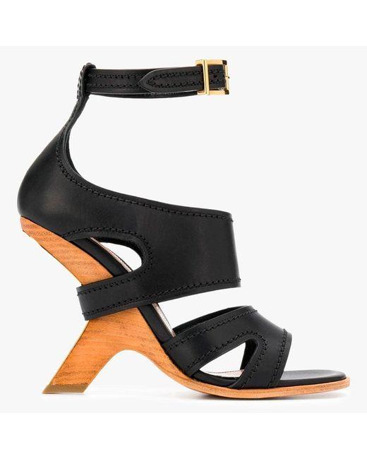 Alexander McQueen No.13 Black Sandals