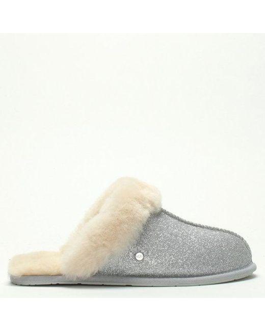 a26f46c35 UGG Womens Scuffette Ii Sparkle Silver Slippers in Metallic - Lyst