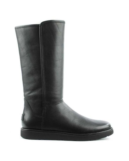 Ugg | Black Ugg Australia Abree Nero Leather Twinfaced Calf Boot | Lyst