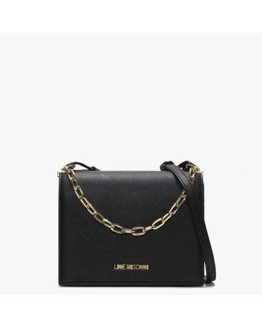 061e0752ea8 Love Moschino Daisy Black Chain Handle Cross-body Bag in Black - Lyst