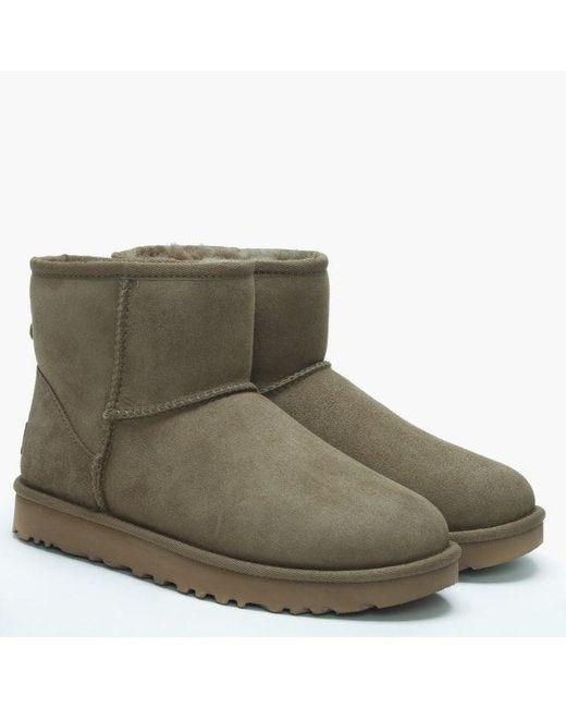 15ce29ae9ca Women's Green Classic Mini Ii Antilope Twinface Boots
