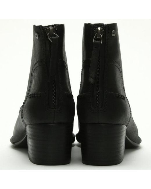 8c71836bad6 Women's Bandara Black Leather Ankle Boots