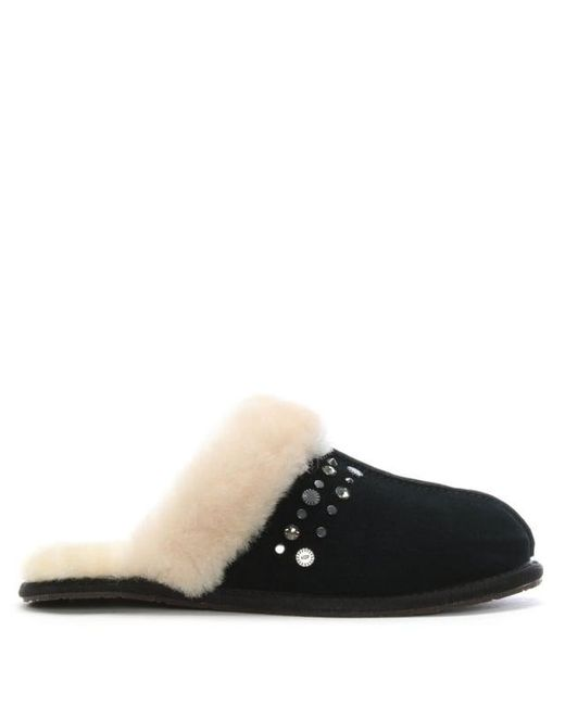 UGG SCUFFETTE STUDDED - Slippers - black