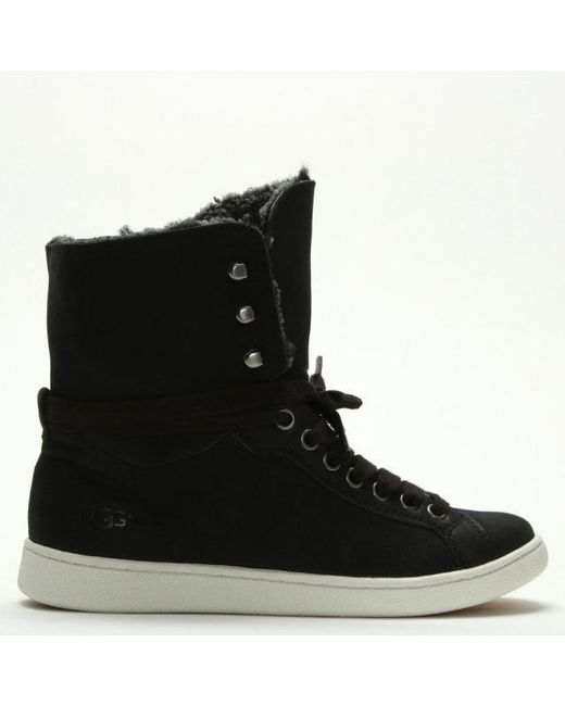 e21a5c80c63 Women's Starlyn Black Suede High Top Sneakers