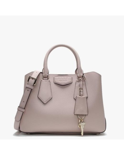 9e782e4a40 DKNY - Pink Small Sullivan Blush Leather Satchel Bag - Lyst ...