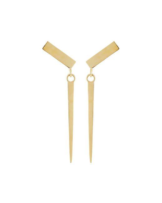 Lana Jewelry - Metallic 14k Small Gloss Spike Earrings - Lyst