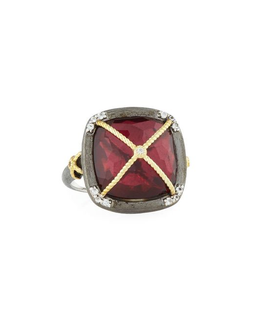 Jude Frances | Multicolor Wrapped Quartz Cushion Cocktail Ring | Lyst
