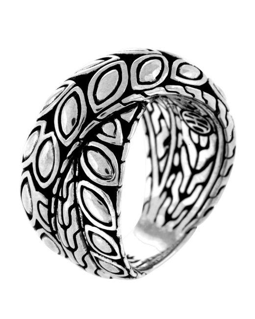John Hardy Metallic Padi Silver Twist Ring Size 7