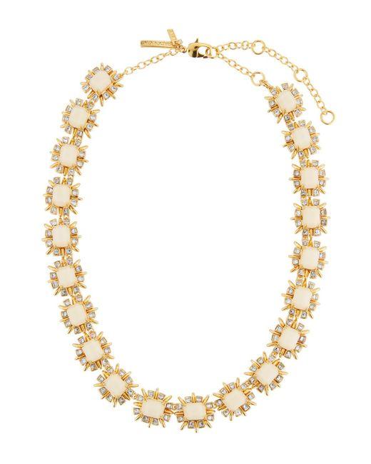 Lele Sadoughi - White Solstice Crystal Collar Necklace - Lyst