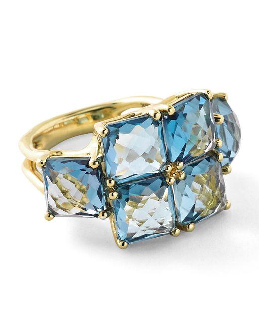 Ippolita   Rock Candy® 18k Square Blue Topaz Six-stone Ring   Lyst