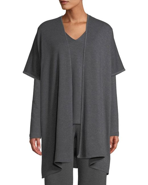 Natori - Gray Cocoon Heathered Topper Sweater - Lyst
