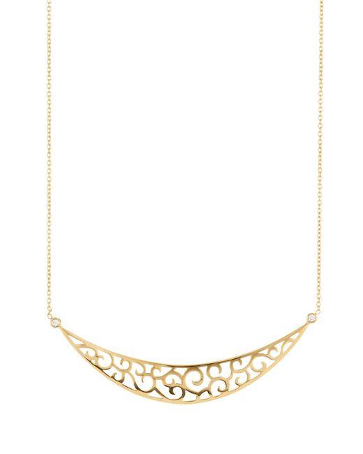 Penny Preville - Metallic 18k Diamond Scroll Crescent Necklace - Lyst