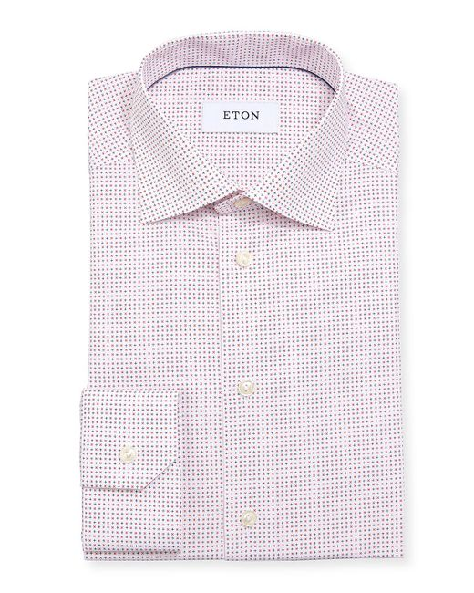 Eton of Sweden Pink Micro Star Cotton Dress Shirt for men