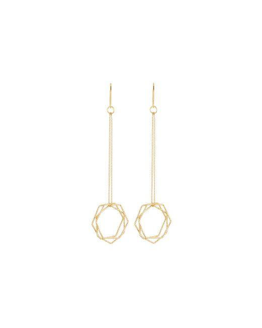 Kenneth Jay Lane   Metallic Multi-hexagon Dangle Earrings   Lyst