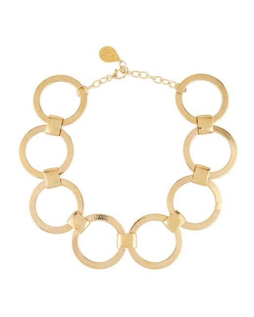 Devon Leigh | Metallic Large Link-chain Statement Choker Necklace | Lyst