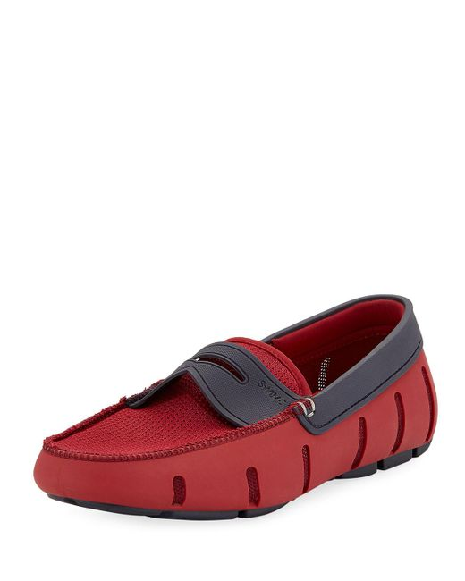 Swims - Red Rubber Penny Loafer for Men - Lyst