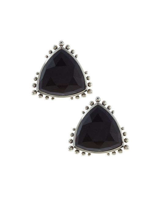 Stephen Dweck | Metallic Triangle Agate Button Earrings | Lyst