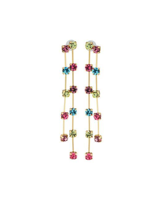 Kenneth Jay Lane - Double Drop Earrings W/ Multicolor Crystals - Lyst
