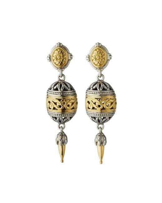 Konstantino - Metallic Sterling Silver & 18k Gold Drop Earrings - Lyst