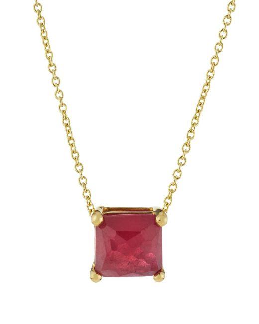 Ippolita | Metallic 18k Rock Candy Mini Single Square Sliding Composite Ruby Pendant Necklace | Lyst