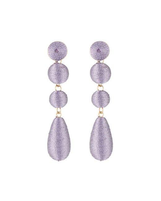 Lydell NYC - Purple Wrapped Linear Earrings - Lyst