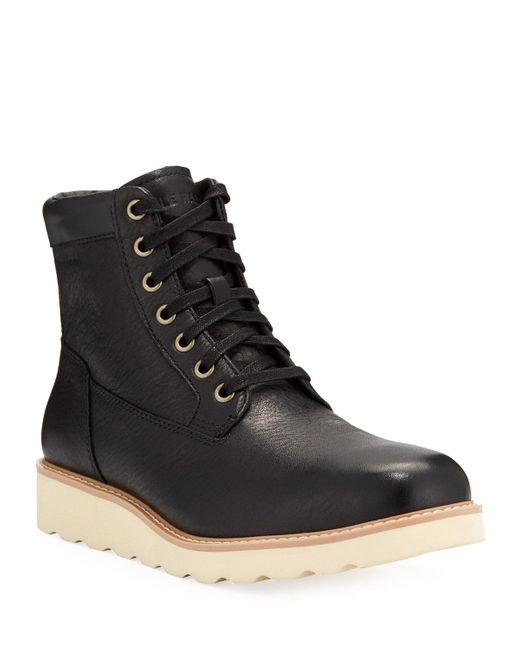 Cole Haan Black Nantucket Leather Boots for men