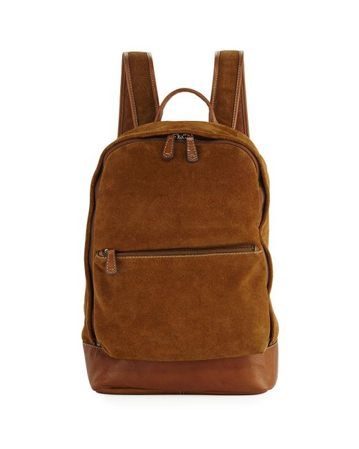 Frye | Brown Chris Suede Dual-zip Backpack | Lyst