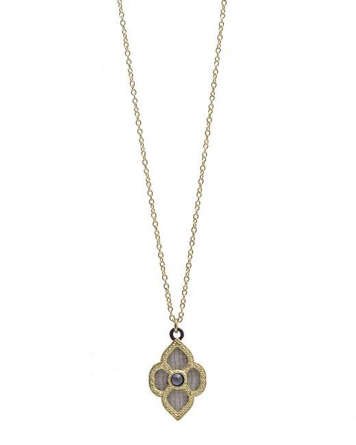Armenta - Metallic Old World Mosaic Scroll Pendant Necklace - Lyst
