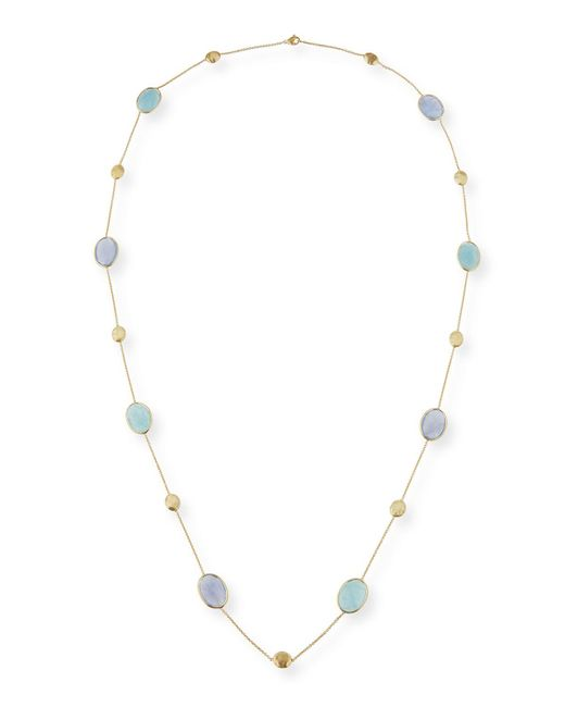 Marco Bicego - Multicolor Siviglia Resort Aquamarine & Chalcedony Long Necklace - Lyst