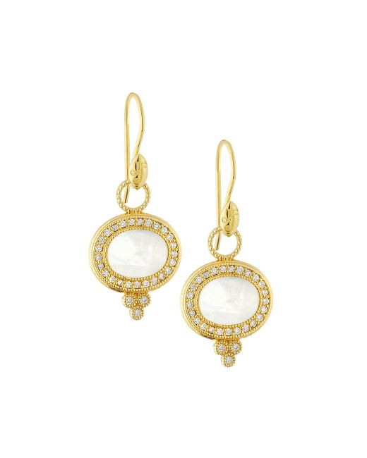 Jude Frances - Metallic 18k Provence Pave Lateral Drop Earrings - Lyst